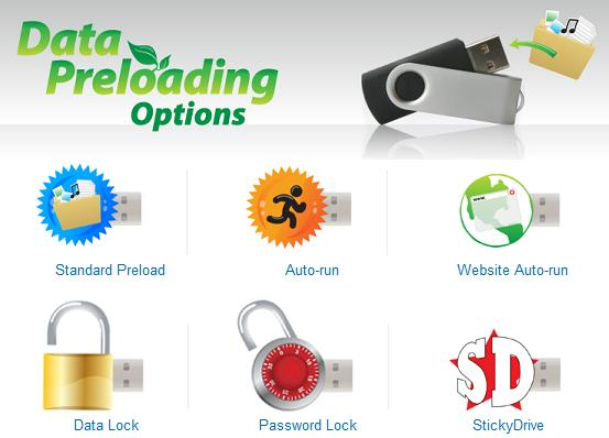 USB Drive Data Loading / Preloading  USB Products USB Flash Drives / Memory Sticks