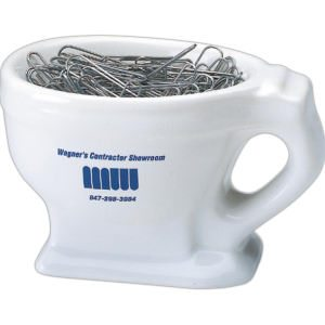 Ceramic Toilet Shape Novelty Mug Holder For Change Or