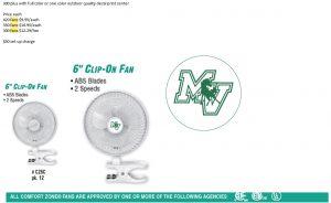 Imprinted Clip Fan / Bed Fan / Desk Fan / Clamp Fan