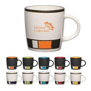 Color Block Ceramic Mug