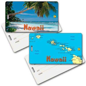 Lenticular Hawaiian Themed ID / Baggage Tags