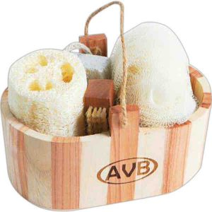 Wooden Tub Spa Set