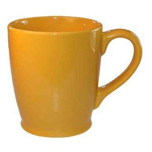 17 oz. Golden Yellow Kinzua Ceramic Coffee Mug