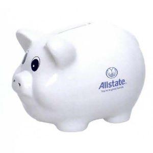 Classic White Ceramic Piggy Bank