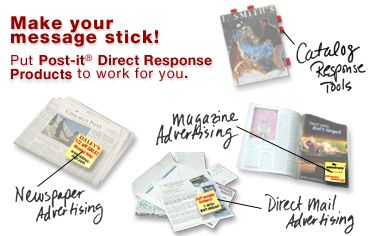 Post It Notes For Direct Response Mail And Magazine