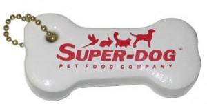 Floating Dog Bone Shaped Key Tag