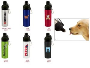 Dog Stainless Steel Water Bottle