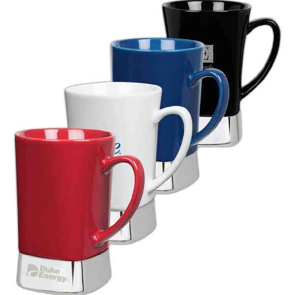 Stylish Square Bottom Coffee Mugs Make Great Awards And