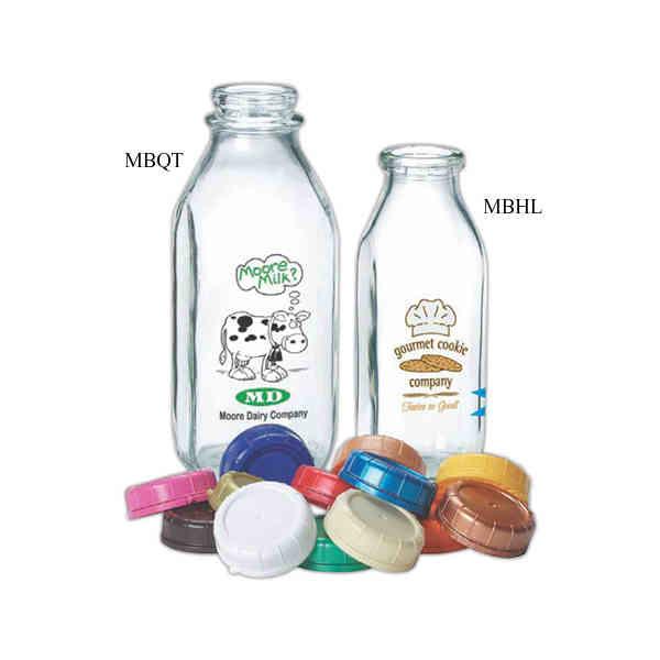 Imprinted Glass 1 2 Liter Milk Bottle Promotional