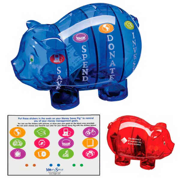 piggy bank with separate compartments for saving