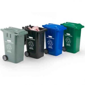 Mini Garbage Can Recycling Cart Candy Container And Pen
