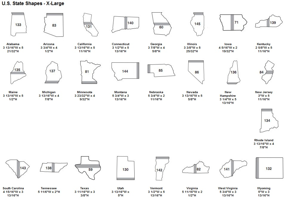 Us State Shaped Die Cut Post It Notes Sticky Ahesive