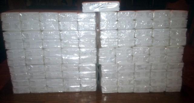 Pocket Facial Tissue Packs - Blank, Bulk, Fast Ship, Quick