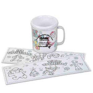 christmas coloring mug