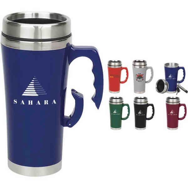 Carabiner Handle Clip On Travel Mug Promotional