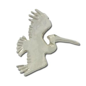 Marine Animal Lapel Pins- Pelican and Dolphin / Porpoise