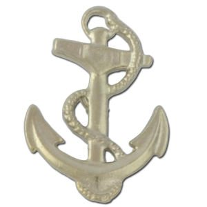 Golden Colored Anchor with Rope Pin