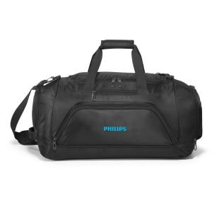 Black Qunitessential Duffel Bag w/ Handle and Shoulder Strap