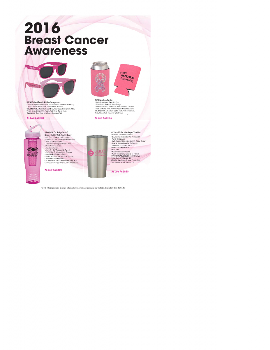 Pink Breast Cancer Awareness Month Items | Promotional Product Ideas by  ImprintItems.com
