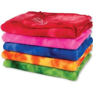 Tie-die Two Tone Blankets - Color Options