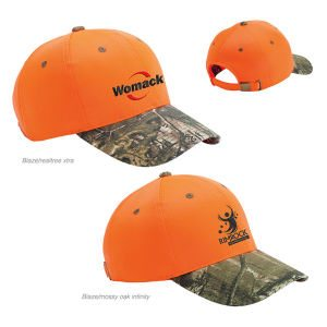 Camo Bill on Bright Blaze Cap for Hunting Camp