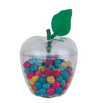 Clear Exterior Cannister - Apple Shape