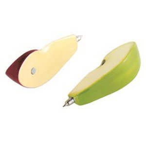 Green and Red Apple Wedge / Slice Pens - Magnetic