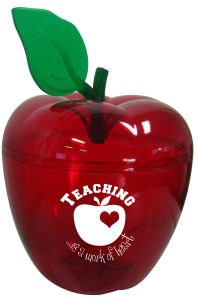 Red See Through Apple Shaped Jar