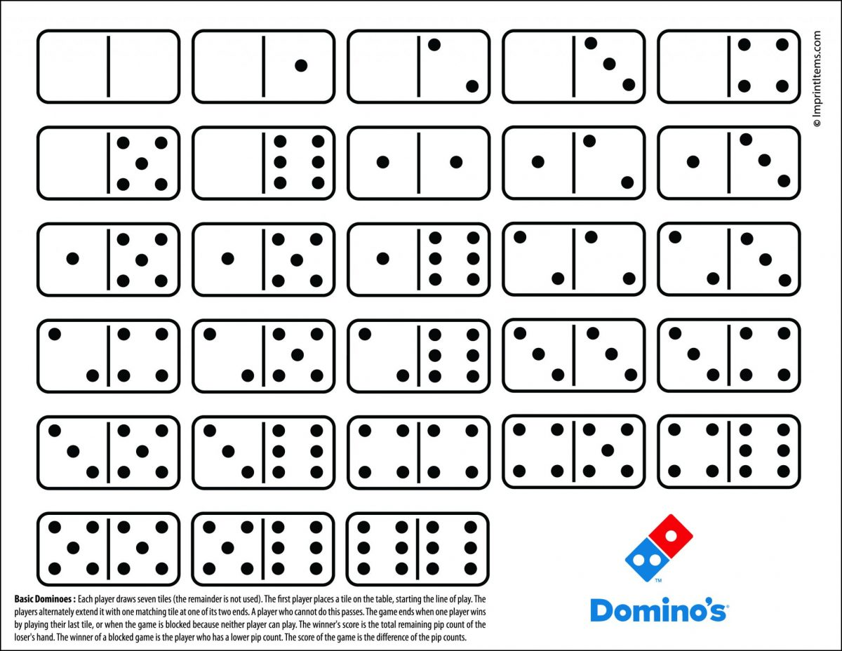 Domino Game In Punch Out Sheet With Custom Logo Promotional