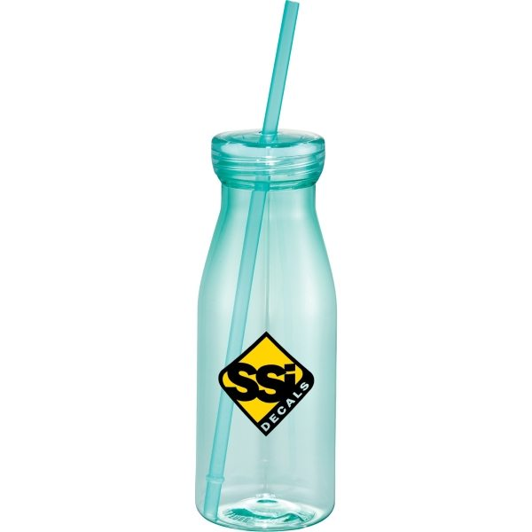7a9e4708224ec Milk Bottle Shaped Tumbler Bottles with Straws and Lids ...