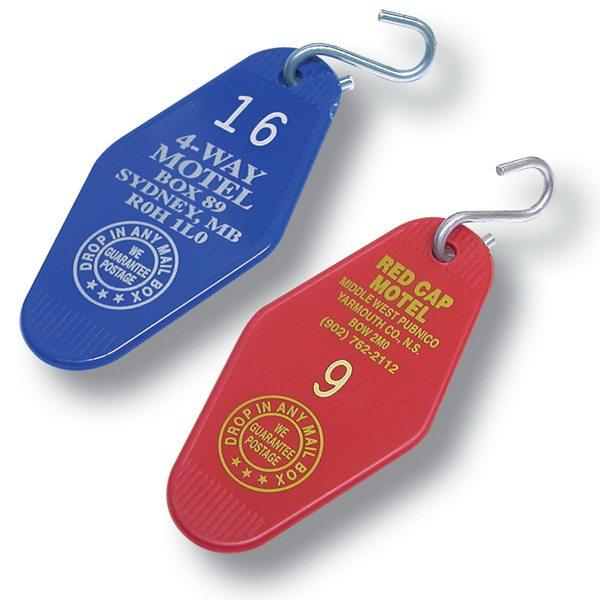 Classic Style Hotel Room Plastic Key Tags Custom Printed