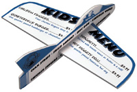 Promotional Foam Airplanes with your airline name or imprint