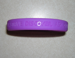 Purple Silicone Cancer Awareness Bracelets Bulk In Stock