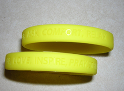 Troop Support Yellow Silicone Wrist Bands Pray