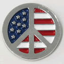 Peace Symbol US Flag Lapel Pins Low Price