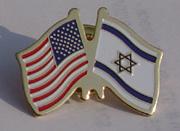amercan and israel flag