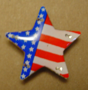 Blinking American Flag Star Pins