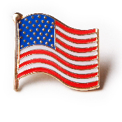 United States of American U.S. Flag Lapel Pin Lowest prices when ordered in Bulk Quantities