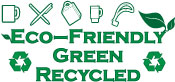Go Green, environmentally friendly, made from recycled items