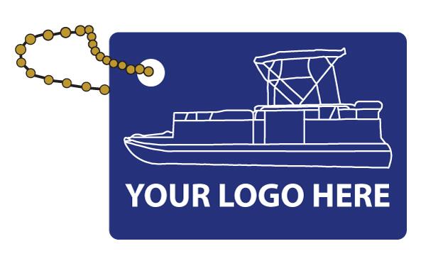 Rectangle business card floating key chain item kf508 kfcc pontoon stock artwork colourmoves