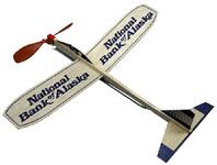 Balsa motorplane airplane - 12 inch wing