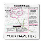Breast Self-Exam Magnet