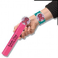 breast cancer,awareness,pink,ribbon,loop,napkin ring, bracelet, slap bracelet