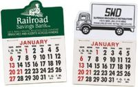 calendar, magnet, peel n stick, adhesive back, pad, tear off