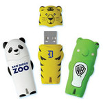 Animal Shaped USB Drives: Panda, Tiger, Frog