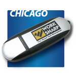 Chicago Brushed Aluminum Memory Stick / USB Drive
