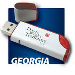 Georgia Brushed Aluminum Memory Stick / USB Drive