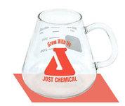 Erlenmeyer Beaker Mug with Handle