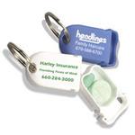 Tablet Caddy: Travel Pill Box / Key Tag