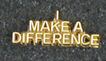 Make a Difference Lapel Pin